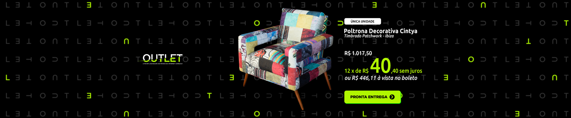 Outlet - Poltrona Patchwork